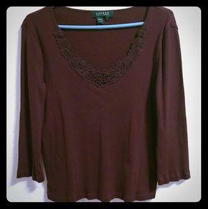 Ralph Lauren Sweater Top 3/4 Sleeve